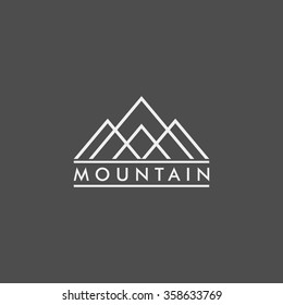 Vector Illustration of Mountain Logo. Outdoor Adventure and Expedition