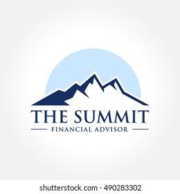 vector illustration of Mountain, Nature concept logo, Summit, Peak