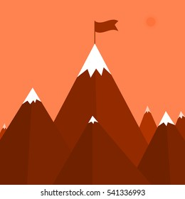 Vector illustration of a mountain. Stock vector