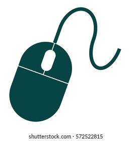 Vector Illustration of a Mouse Green in Color Icon