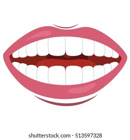 Vector Illustration Of Mouth