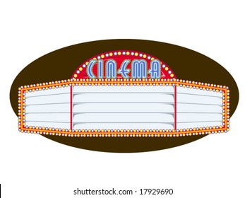 vector illustration of a movie marquee