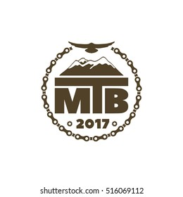 Vector Illustration MTB (mountain bike)  logo badge and label.