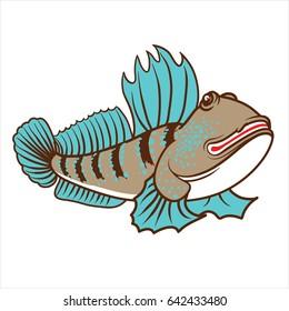 Vector illustration of Mudskipper