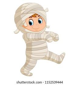 vector illustration of Mummy walking