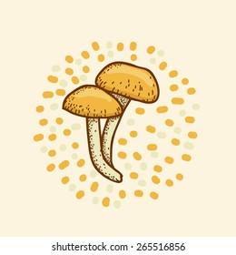 Vector Illustration mushroom