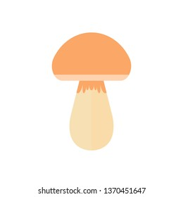 Vector illustration of a mushroom. Colorful icon for food stores, websites and apps.