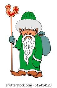 Vector illustration of an Muslim Santa Claus