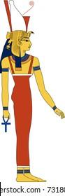 Vector illustration of Mut, ancient Egyptian goddess fertility