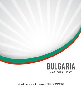Vector illustration of National Day of Bulgaria 3 March Celebration background