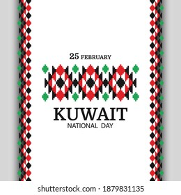 Vector Illustration of National Day Kuwait.  National pattern.