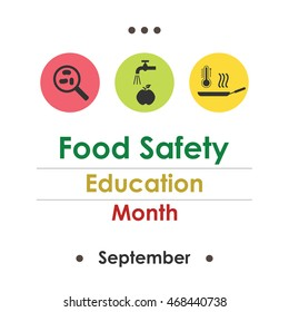 vector illustration for  National Food Safety Education Month