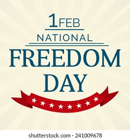 Vector illustration of National Freedom Day background with red ribbon.