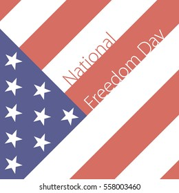 Vector illustration of National Freedom Day background