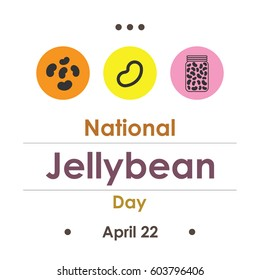 vector illustration for National Jellybean Day in April