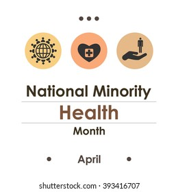 vector illustration / national minority health month