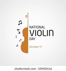 Vector Illustration National Violin Day.