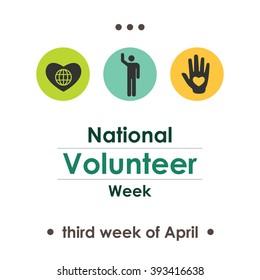vector illustration / national volunteer week