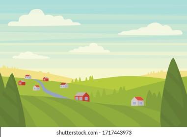 Vector illustration of a natural landscape.