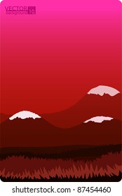 A vector illustration of a nature landscape. Can be scaled without quality loss.