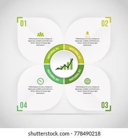 Vector illustration of Nature Theme Label Infographic design element.