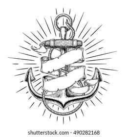 Vector illustration nautical anchor