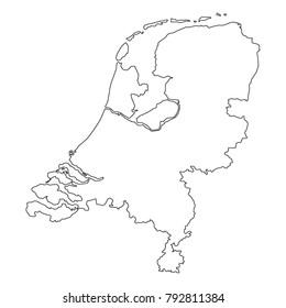 vector illustration of Netherlands map