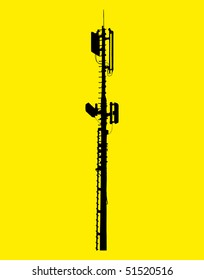 vector illustration of a network broadcasting antenna