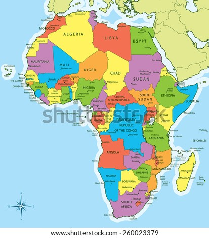 New Africa Map.Vector Illustration New 2011 Africa Map Stock Vector Royalty Free