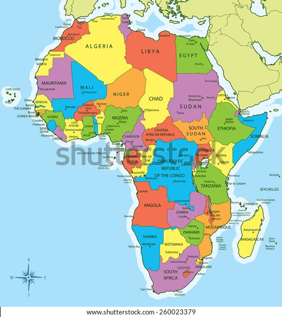 Vector Illustration New 2011 Africa Map Stock Vector (Royalty Free