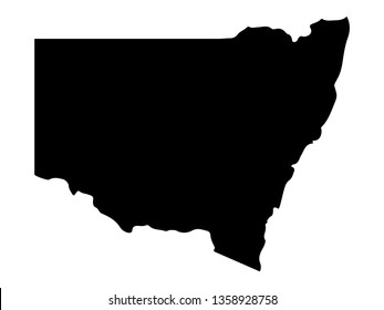 vector illustration of new south wales australia map