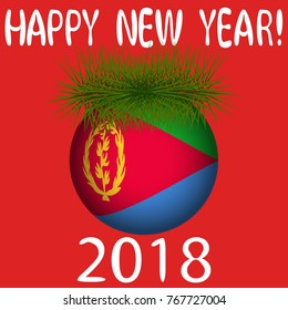 Eritrea 2018 images stock photos vectors shutterstock vector illustration for the new year 2018 with hand drawn text happy new year m4hsunfo