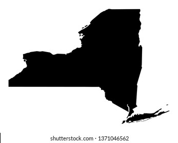 vector illustration of New York map