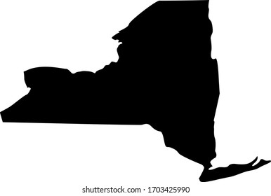 vector illustration of New York State map