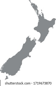 vector illustration of New Zealand map