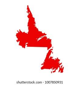 vector illustration of Newfoundland and Labrador map