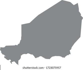 vector illustration of Niger map