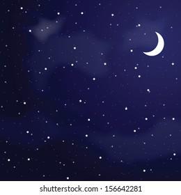 Vector illustration of night sky.