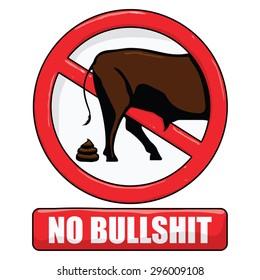 vector illustration of a no bullshit sign