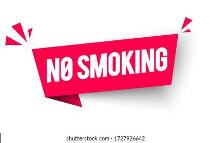 Vector Illustration No Smoking Label. Modern Web Banner Element.