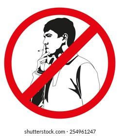 "vector illustration of ""No smoking"" sign"