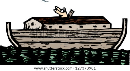 Vector Illustration Noahs Ark Stock Vector (Royalty Free) 127373981