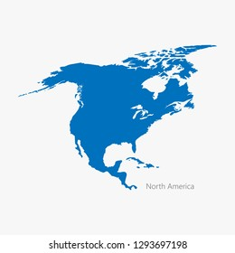 vector illustration of the North America continent