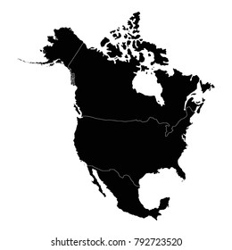 North America Map Images Stock Photos Vectors Shutterstock