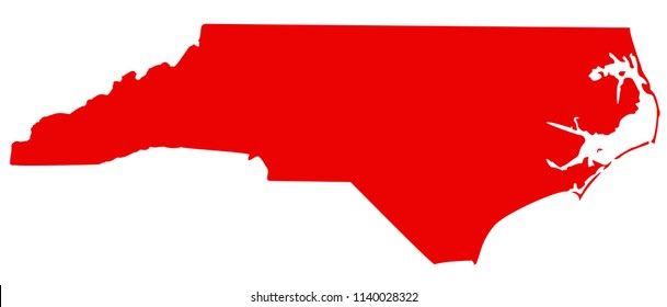 vector illustration of North Carolina map