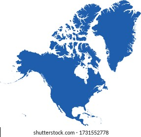 vector illustration of North and Central America map