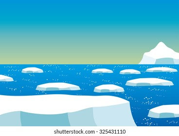 Vector illustration. North Pole.