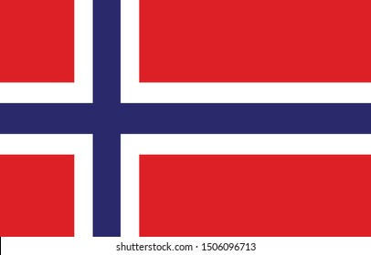 vector illustration of Norway flag