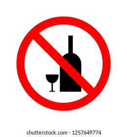 Vector illustration of not allowed to drink alcohol