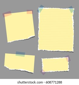 Vector Illustration of Note Papers